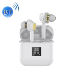 TWS-07B Bluetooth 5.0 In-Ear Stereo Earbuds Earphone with Digital Display Charging Box(White)
