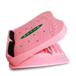 6 Levels Adjustable Stovepipe Stretch Oblique Pedal Standing Stretch Foldable Fitness Equipment(Pink)