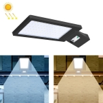 LED Solar Street Lamp Human Body Induction Road Lighting Household Outdoor Garden Light, Style: Body Sensing(Warm White Light)