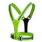 LED Reflective Vest High Stretch Outdoor Reflective Vest Traffic Safety Reflective Clothing( Green)