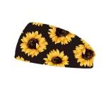 3 PCS Printing Elastic Polyester Cloth Women Headband Sports Sweat Wide Version Bundle Belt, Size: One Size(Black)